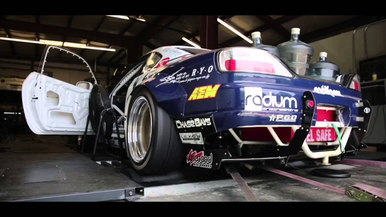 Team Rocket Bunny Silvia S15 With Nitrous Injected Dodge Nascar R5 P7 358ci  Dyno Tune