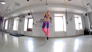 Poledance видеоурок Бланш с небольшой круткой Яценко Анна