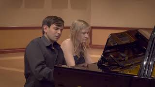 Brahms - Hungarian Dance #1 in G Minor, Vieness Piano Duo