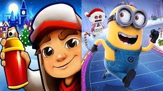 Subway Surfers VS Minion Rush Christmas 2018