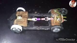 Home made rc car||home made differential car||how to make differential||how to make gear change car