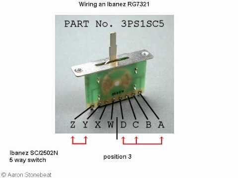 Basic Guitar Electronics XVI  Wiring of an Ibanez RG7321RG320  YouTube