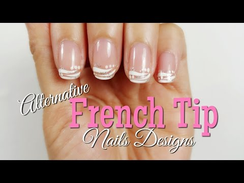 nail designs french tip  short nails diy tutorial