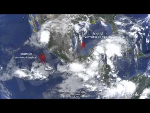 Hurricane Ingrid and Tropical Storm Manuel Hit Mexico IGEO.TV