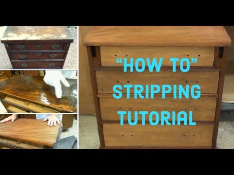 Diy Furniture Refinishing How To Strip Wood Furniture Youtube