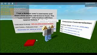 This Roblox game lets you check a user's last online information!