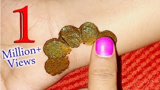 Most easy trick for arabic shade mehndi | How to apply arabic shade mehndi with finger | mehndi