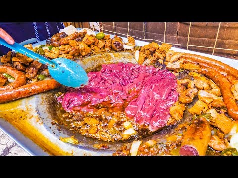 EXTREME Mexican Street Food! BLOOD + CACTUS Tacos and SPICY Street Market TACO Tour in Mexico City