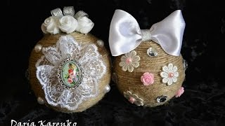 DIY Красивые ёлочные шары своими руками. Мастер класс