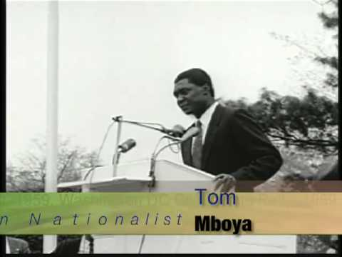 Tom Mboya & Dr. Martin L  King at a Civil Rights Rally in DC