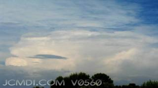 V05606 Obscured thunderstorms forming timelapse 720p HD