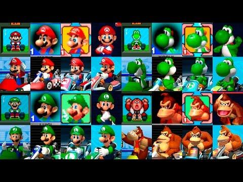 Mario Kart Classic Characters Evolution | Evolución de los personajes clásicos