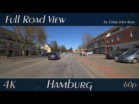 hamburg,-germany:-bramfeld,-ohlsdorf,-wellingsbüttel---bramfelder-chaussee,-saseler-chaussee---4k