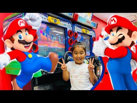 マリオカートゲームセンターで遊びましたよ♪