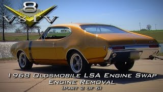 1968 Oldsmobile Cutlass Supercharged 6.2 LSA Engine Install Swap Video Part 2 V8TV