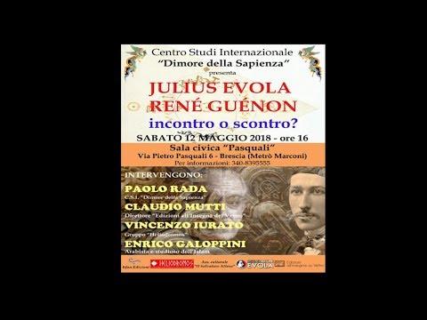 Julius Evola René Guénon - incontro o scontro - Brescia 12 Maggio 2018