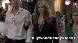 Lucy Hale, Chris Zylka, Danielle Panabaker Arriving at Piranha 3DD After Party! Exclusive!.mov