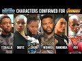 Avengers Infinity War || Black Panther Characters Confirm || AG Media News