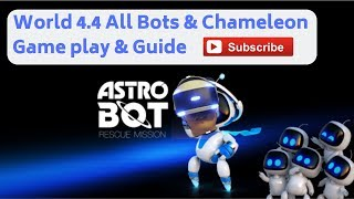 Astro Bot - Rescue Mission. Gameplay, World 4 Level 4 - Crystal Cave  - All 8 Bots And Chameleon!