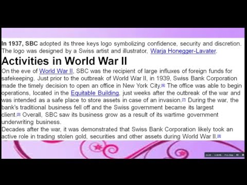What  Is Swiss   Bank  Corportion