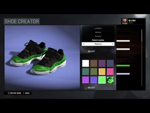 bf7ee310da64 NBA 2K17 Shoe Creator - Air Jordan 11 Low Green Snakeskin by Zorify