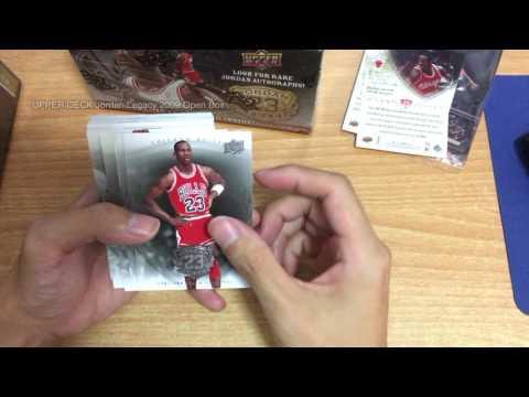 NBA Jordan UPPER DECK JORDAN LEGACY CARD 2009 Open Box