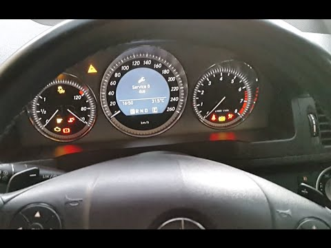 How to reset Oil Service reminder Mercedes benz C250 CGI M271 Engine