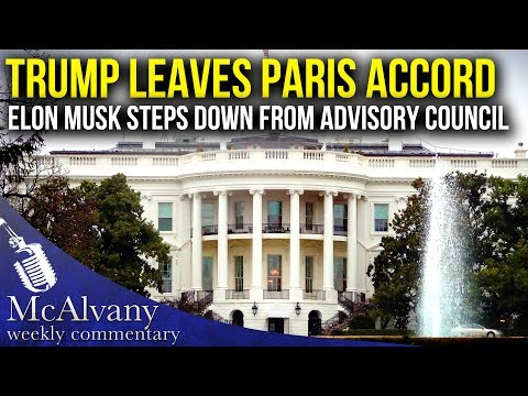 Trump Leaves Paris Accord - Elon Musk Steps Down From Advisory Council