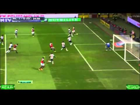 AC Milan Vs Udinese 1-0 2013 - Balotelli First Goal For Milan! 03/02/2013 Serie A