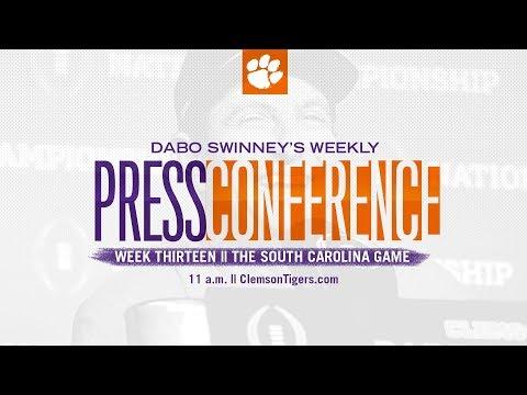 Dabo Swinney Press Conference || The South Carolina Game