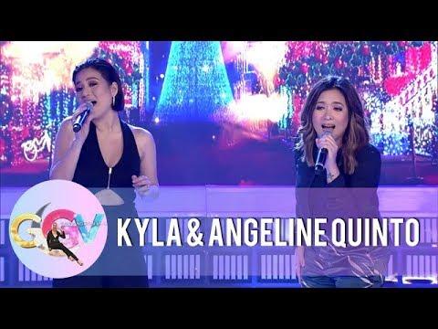 """GGV: Kyla and Angeline sing """"Pasko ng Pinas"""""""