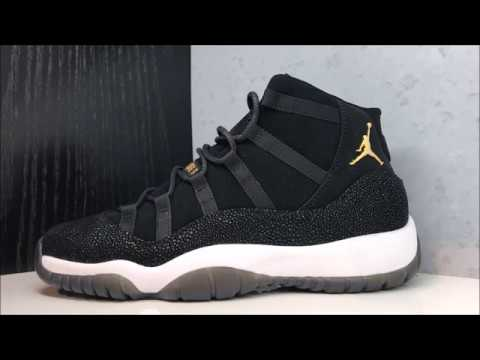 262d613b667ceb Air Jordan 11 XI Retro GG Black Gold Heiress Sneaker Honest Review ...