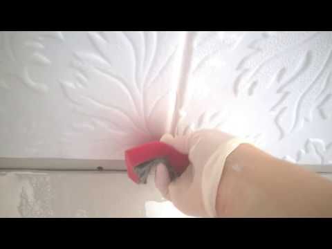 Как убрать темные швы на пенопластовых панелях