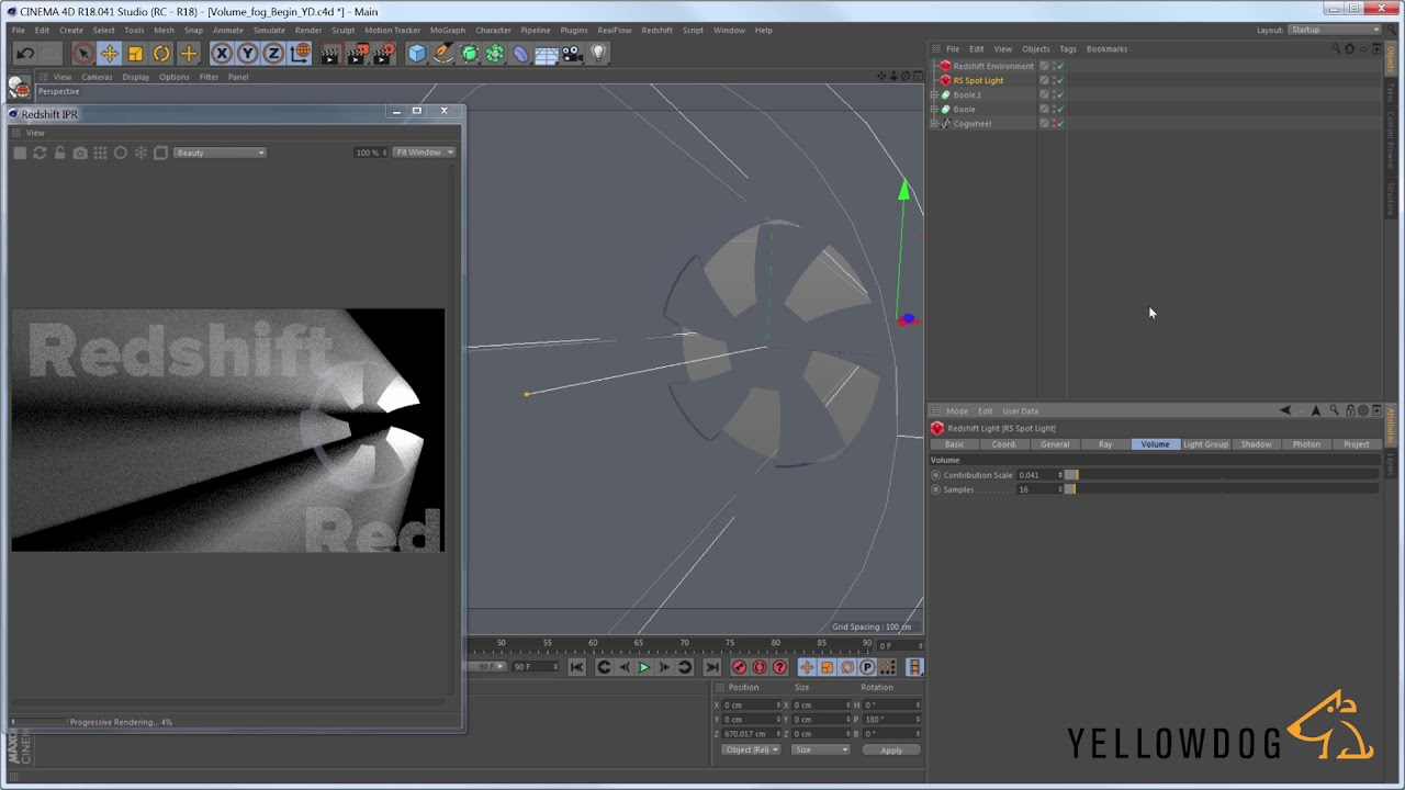 Working with fog In Redshift and Cinema 4D