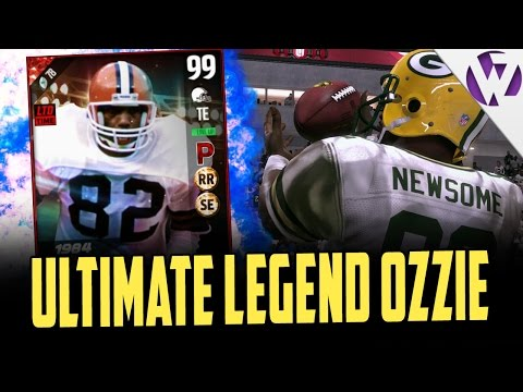 ULTIMATE LEGEND OZZIE NEWSOME IS UNSTOPPABLE - MADDEN 17 ULTIMATE LEGEND OZZIE NEWSOME GAMEPLAY