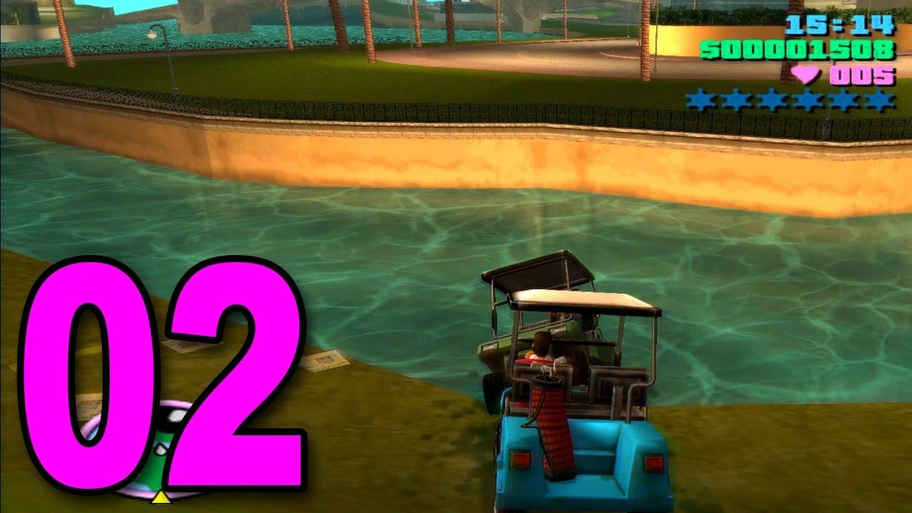 996790c46789e4 Grand Theft Auto  Vice City - Part 2 - GOLF CART MAYHEM - YouTube