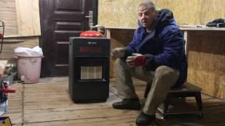 видео газовый обогреватель