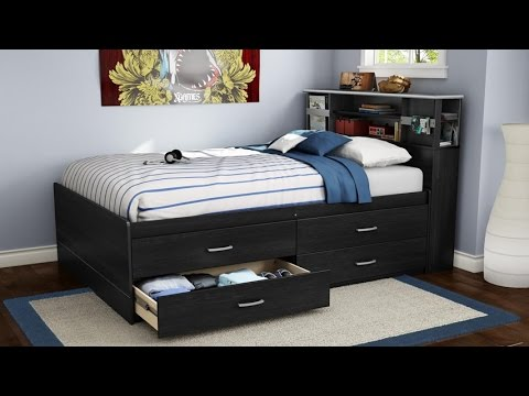 South Shore Cosmos Collection Full Size Captain S Bed In