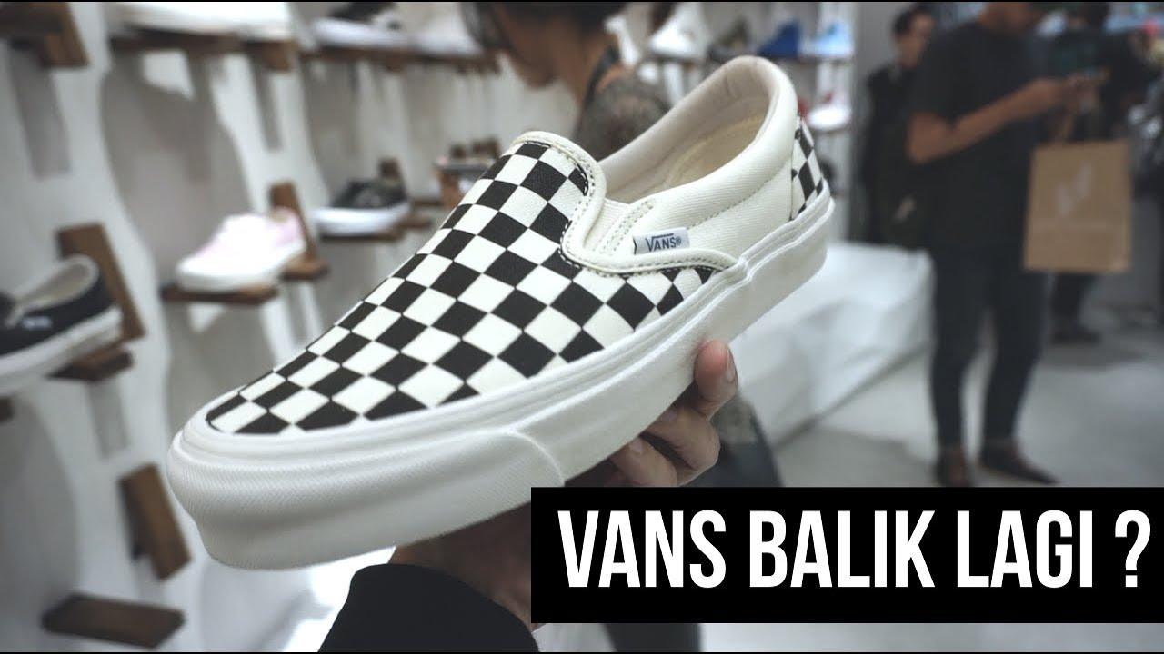 vans slip on checkerboard ori dan kw