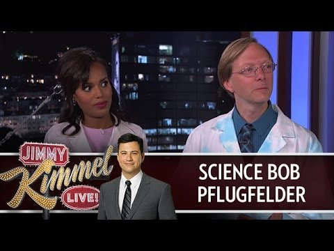 Science Bob Pflugfelder on Jimmy Kimmel Live PART 1 - YouTube