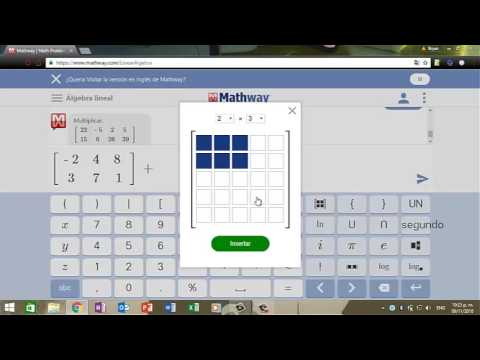 Calculo de Determinantes y Ecuaciones en Mathway on