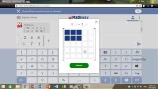 Calculo de Determinantes y Ecuaciones en Mathway
