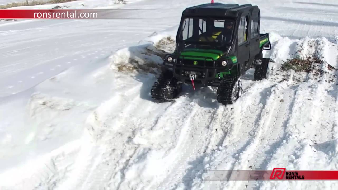 John Deere 825i S4 Gator With Camoplast T4s Tracks Youtube