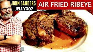 How to AIR FRY a STEAK | Ribeye 13 min | Ninja Foodi or any AIR FRYER | USDA PRIME