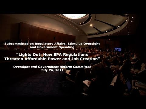 """Lights Out: How EPA Regs Threaten Affordable Power & Job Creation"""