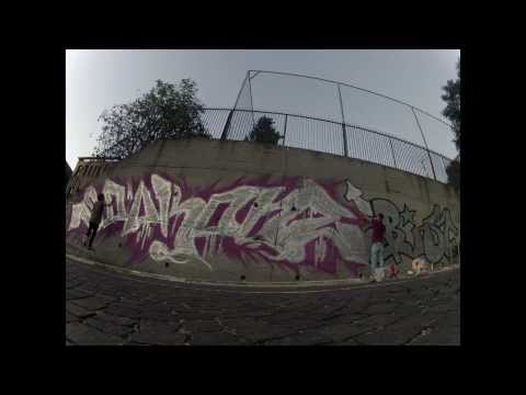 time lapse action graffiti