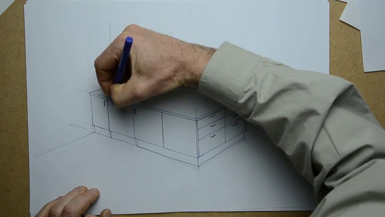 howto 3d sketch this example a kitchen cabinet youtube
