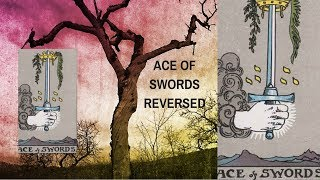 Ace of Swords Reversed | Tarot Card Meaning