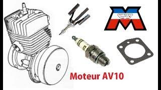 Mobylette - Révision moteur AV10 - déglaçage, segments, joints, bougie