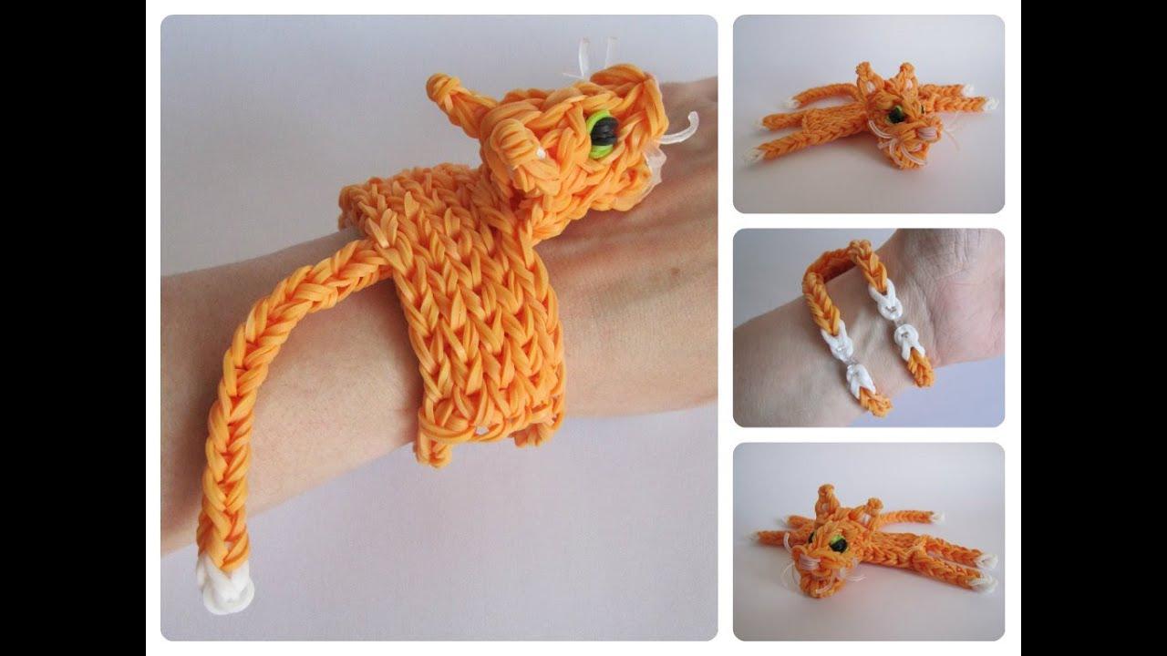 Rainbow Loom Cat Bracelet Loombicious Youtube